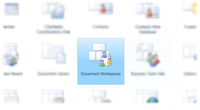 Using Document Workspace in sharepoint 2010