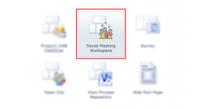 Using Social Meeting Workspace in SharePoint 2010, Office 365