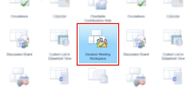 Using decision meeting workspace in sharepoint 2010 for Sharepoint 2013 meeting workspace template
