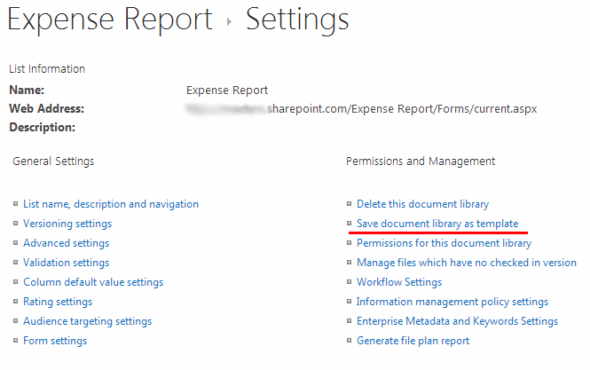creating and using document library template in sharepoint