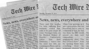 News, news, everywhere and all of it to read